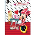 Caderno Top Minnie Universitário com Capa Dura Brochura - 96 Fls.-Tilibra
