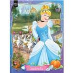 Caderno Top Princesas Cinderela com Capa Dura Brochura - 96 Fls - Tilibra