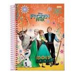 Caderno Universitário 1x1 Frozen 96 Folhas Capa Dura Jandaia