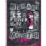 Caderno Universitário Capa Dura Tilibra Monster High - 96 Folhas