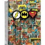 Caderno Universitário Espiral 1x1 96 Folhas Capa Dura DC Comics Jandaia - Estilo 01