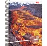 Caderno Universitário Espiral 1X1 96 Folhas Capa Dura 4 Elementos Foroni - Fogo