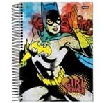 Caderno Universitário Espiral 1X1 96 Folhas Capa Dura DC Girl Power Jandaia - Estilo 02