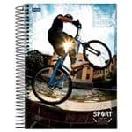 Caderno Universitário Espiral 1X1 96 Folhas Capa Dura Jandaia - Sport 06