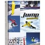 Caderno Universitário Espiral 1X1 96 Folhas Capa Dura Jump Foroni - Snowboard