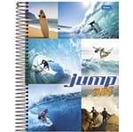Caderno Universitário Espiral 1X1 96 Folhas Capa Dura Jump Foroni - Surf