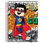 Caderno Universitário Pixel Kraft 10 Matérias São Domingos 1020734