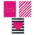 Caderno Universitário Tilibra Love Pink 200 Folhas