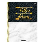 Caderno Urban Follow Your Dreams - 10 Matérias - Foroni