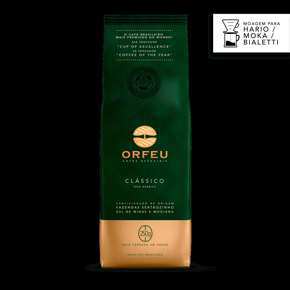 Café Orfeu Clássico para Filtro V60 Hario e Cafeteira Italiana | 250g 517