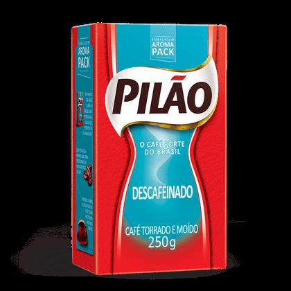Café Pilão Torrado e Moído Descafeinado Vácuo 250g