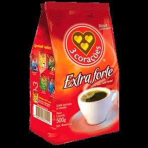 Café Torrado e Moído 3 Corações Extraforte 500g