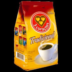 Café Torrado e Moído 3 Corações Tradicional 500g