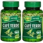 2 Cafés Verde Unilife Termogenico 180capsulas