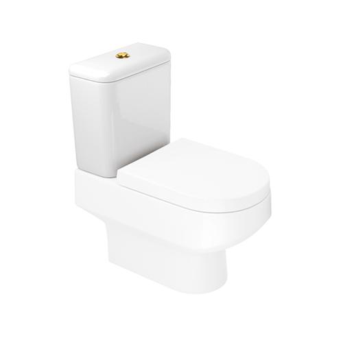 Caixa Acoplada Duoflux Branca com Botão de Acionamento Gold para o Modelo Carrara CD11F - Deca - Deca