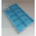 Caixa Acrílica Retangular 6x4 Fundo Azul Caixa Acrílica Retangular 6cmx4cm C/ Fundo Azul - 10 Unidades