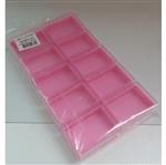 Caixa Acrílica Retangular 6x4 Fundo Rosa Caixa Acrílica Retangular 6cmx4cm C/ Fundo Rosa - 10 Unidades