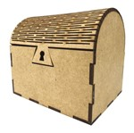 Caixa Baú Porta Objetos em MDF de Encaixe 10x8x9cm - Palácio da Arte
