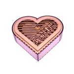 Caixa Coração Amor em Mdf 3mm Provençal