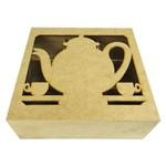 Caixa de Chá Laser Bule com 9 Divisões