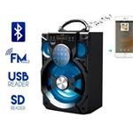 Caixa de Som A76 Altomex Bluetooth Led Usb Sd Rádio Fm Potente 15w Preta