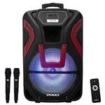 "Caixa de Som Amplificada Satellite AS-1502 15"" 450W 2V/Karaoke/USB/Micro SD/TF -"