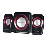 Caixa de Som Bluetooth 20w Subwoofer Wireless 2.1 Canais com Fm e Multimidia - Vc-g500bt