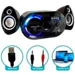Caixa de Som Bluetooth 18w com Subwoofer Wireless 2.1 Canais com Fm e Multimídia Infokit - Vc-g320bt