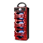 Caixa de Som Bluetooth 18Watts Torre Super Bass - VC-M910BT - Vermelho