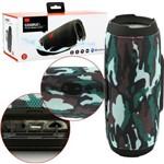 Caixa de Som Bluetooth Móvel Charge 3 com Mp3 Rádio Fm Pendrive Cinza Resistente a Água