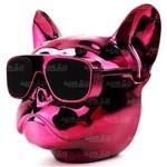 Caixa de Som Bulldog com FM Bluetooth Micro SD Auxiliar Grande Original Rosa Metálica Exbom - 02729