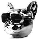 Caixa de Som Bulldog com Fm Bluetooth Micro Sd Auxiliar Grande Prata Metálico Exbom - 0272
