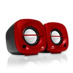Caixa de Som C3TECH SP-303RD 3W USB Preto/Vermelho | InfoParts