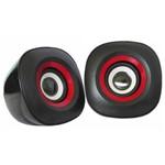 Caixa de Som K-Mex SP-7000 - 3W RMS - USB - com Controle de Volume - Preto e Vermelho