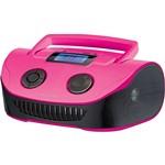 Caixa de Som Multilaser Boombox Rosa 15w Rms USB/P2/FM/Cartão de Memória
