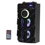 Caixa de Som Satellite AS-2605 10W Bluetooth/USB com Iluminação LED - Preto