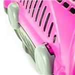 Caixa de Transporte Furacão Pet Luxo Rosa