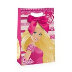 Caixa Flex C/fita P/presente Barbie Rosa 22x9cm C/10