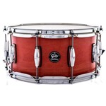 Caixa Gretsch Marquee Maple Series Satin Red Coral 14x6,5¨ Casco Top e Aros Powerhoop 2.3mm