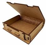 Caixa Livro Porta Objetos em MDF 10,7x8,8cm - Palácio da Arte