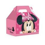 Caixa Maleta Kids Surpresa Minnie Disney Rosa 12x8cm C/10