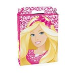 Caixa Maleta P/presente Barbie Rosa 15x6cm C/10
