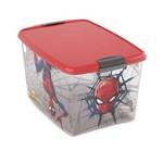 Caixa Organizadora com Trava Homem Aranha 46 Litros Plasutil