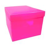 Caixa Organizadora Plástica PP Rosa - Plascony 1022196