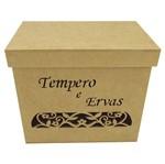 Caixa para Temperos e Ervas Arabesco Flor Tampa de Sapato - MDF Laser