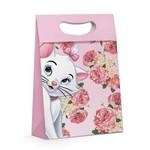 Caixa Plus P/presente Gata Marie Disney Rosa 22x9cm C/10