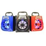 Caixa Som Bluetooth Caixinha Usb Sd Rádio - Kit com 3 Peças