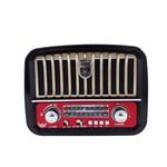 Caixa Som Portátil Rádio Fm USB Pendrive Retro Micro Sd 3w