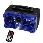Caixa Som Roadstar Rs612cx Azul 12w Rms Bluetooth Aux Fm com Controle Remoto