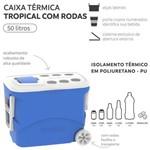 Caixa Térmica Soprano 50 Litros com Rodas - Azul